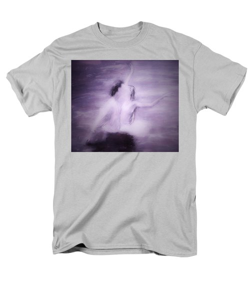 Men's T-Shirt  (Regular Fit) featuring the painting Swan Lake by Jarko Aka Lui Grande
