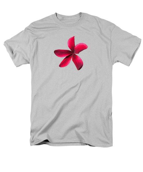 Single Red Plumeria Men's T-Shirt  (Regular Fit) by Pamela Walton
