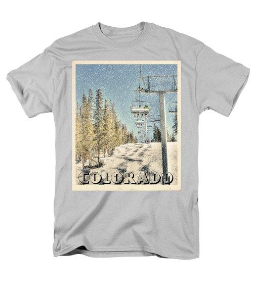 Ski Colorado Men's T-Shirt  (Regular Fit) by Juli Scalzi
