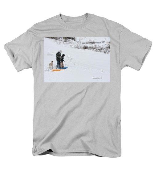 Sledding Men's T-Shirt  (Regular Fit) by Denise Romano
