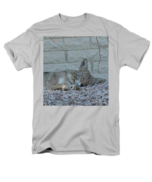 Men's T-Shirt  (Regular Fit) featuring the photograph Sleepy Li'l Coyote by Anne Rodkin