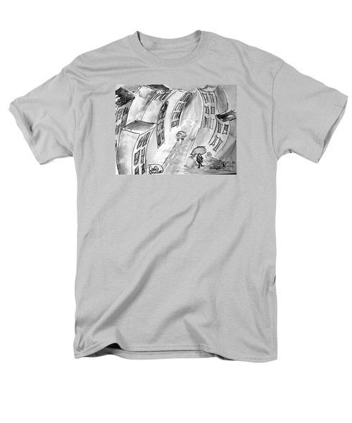 Men's T-Shirt  (Regular Fit) featuring the painting Slick City by Denise Tomasura