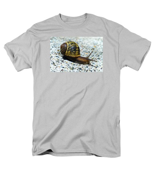 Men's T-Shirt  (Regular Fit) featuring the photograph Snailing Alone 01 by Kevin Chippindall