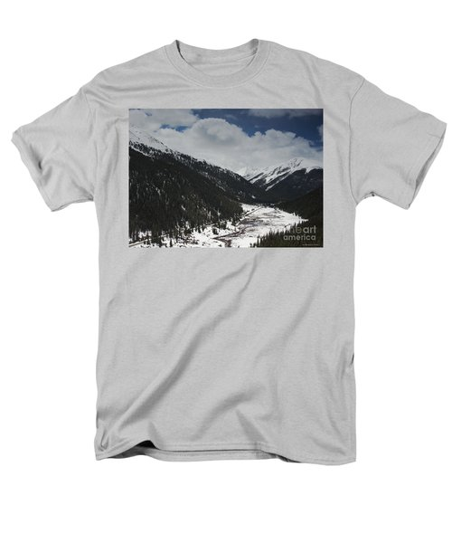 Snow At Independence Pass Colorado Highway 82 Men's T-Shirt  (Regular Fit) by Nature Scapes Fine Art