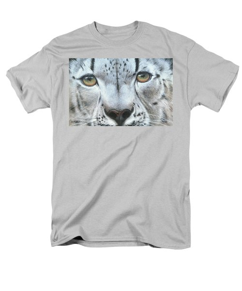 Men's T-Shirt  (Regular Fit) featuring the painting Snow Leopard by Mike Brown