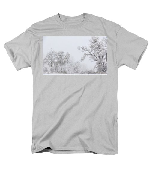 Snowing In A Starbucks Parking Lot Men's T-Shirt  (Regular Fit) by Joni Eskridge