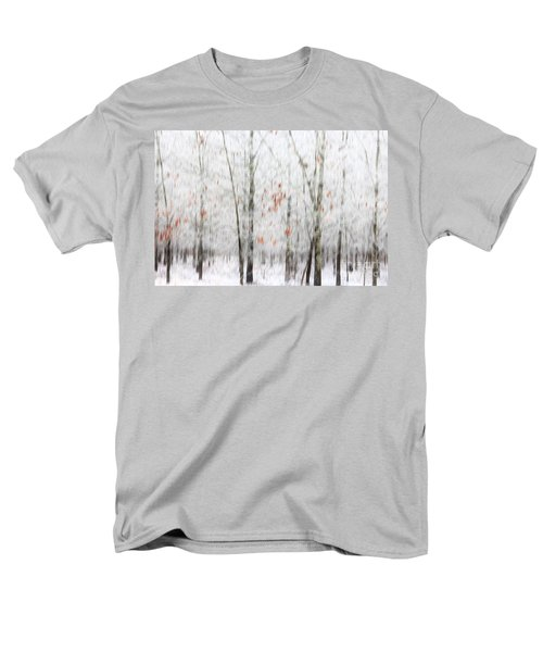 Men's T-Shirt  (Regular Fit) featuring the photograph Snowy Trees Abstract by Benanne Stiens