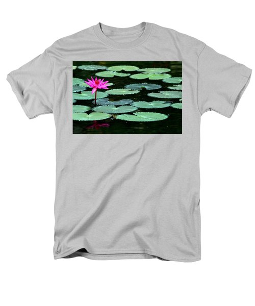 Solitary Water Lily Men's T-Shirt  (Regular Fit) by Laurel Talabere