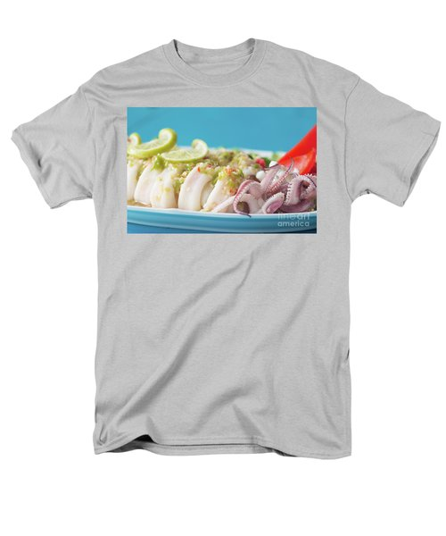 Men's T-Shirt  (Regular Fit) featuring the photograph Spicy Food, Steamed Squid by Atiketta Sangasaeng