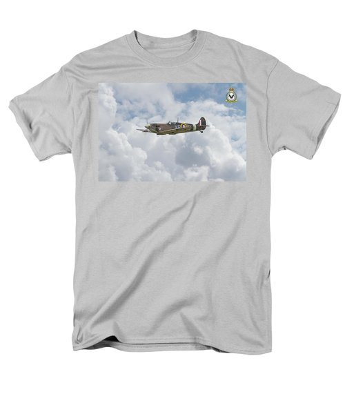 Men's T-Shirt  (Regular Fit) featuring the digital art  Spitfire - Us Eagle Squadron by Pat Speirs