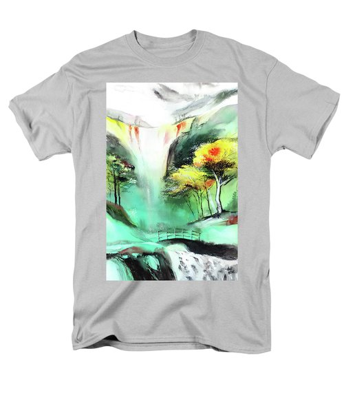 Men's T-Shirt  (Regular Fit) featuring the painting Spring Fall by Anil Nene