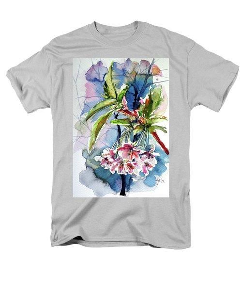 Men's T-Shirt  (Regular Fit) featuring the painting Spring Flower by Kovacs Anna Brigitta