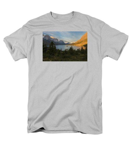 St. Mary Lake Men's T-Shirt  (Regular Fit) by Gary Lengyel