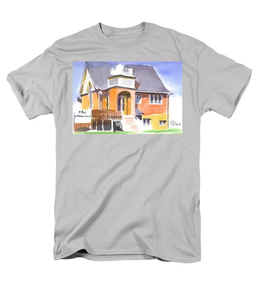 St Paul Lutheran In Watercolor 2 Men's T-Shirt  (Regular Fit) by Kip DeVore