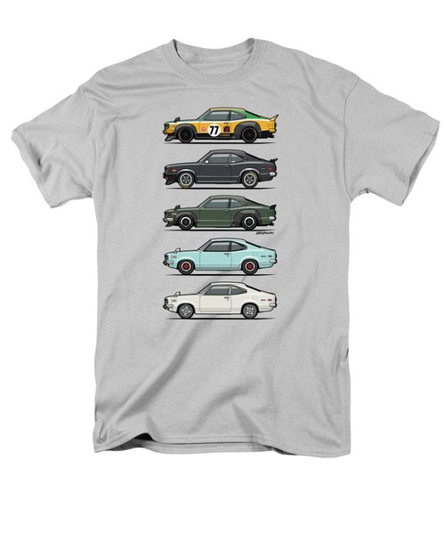 Stack Of Mazda Savanna Gt Rx-3 Coupes Men's T-Shirt  (Regular Fit) by Monkey Crisis On Mars