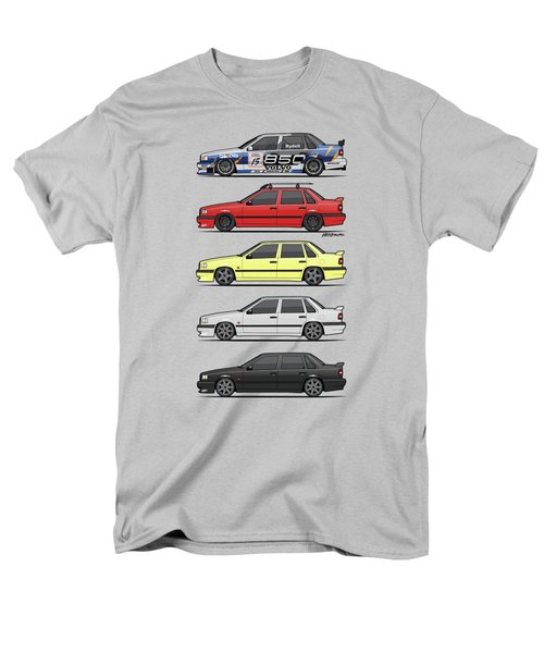 Stack Of Volvo 850r 854r T5 Turbo Saloon Sedans Men's T-Shirt  (Regular Fit) by Monkey Crisis On Mars