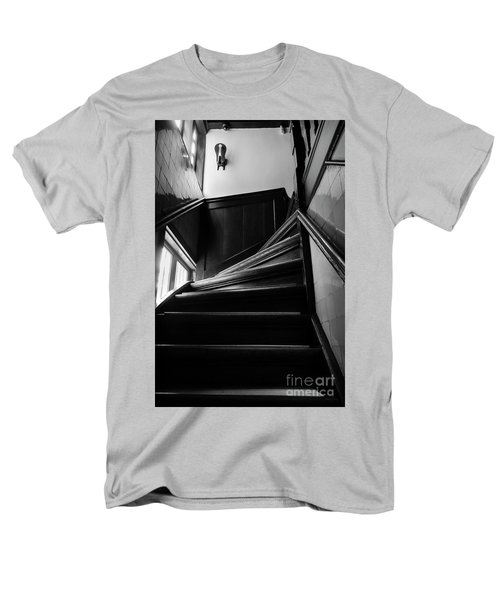 Men's T-Shirt  (Regular Fit) featuring the photograph Stairway In Amsterdam Bw by RicardMN Photography