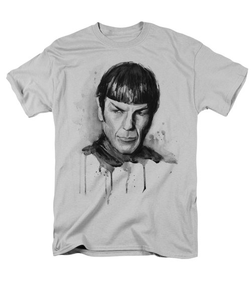 Star Trek Spock Portrait Sci-fi Art Men's T-Shirt  (Regular Fit) by Olga Shvartsur