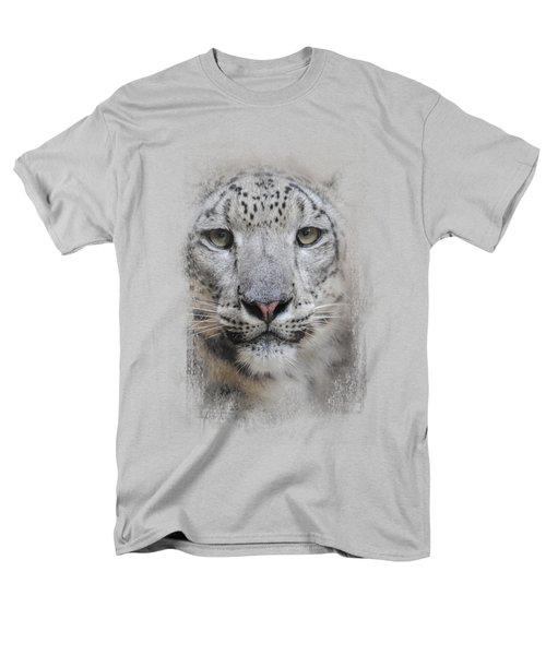 Stare Of The Snow Leopard Men's T-Shirt  (Regular Fit)