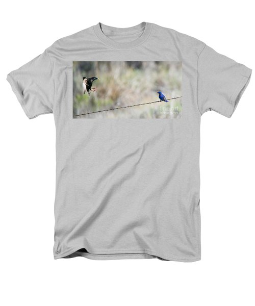 Starling Attack Men's T-Shirt  (Regular Fit) by Mike Dawson