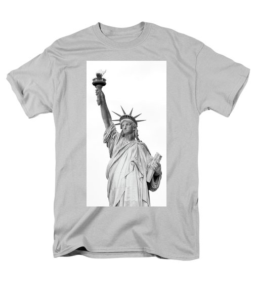 Statue Of Liberty, Black And White Men's T-Shirt  (Regular Fit) by Sandy Taylor