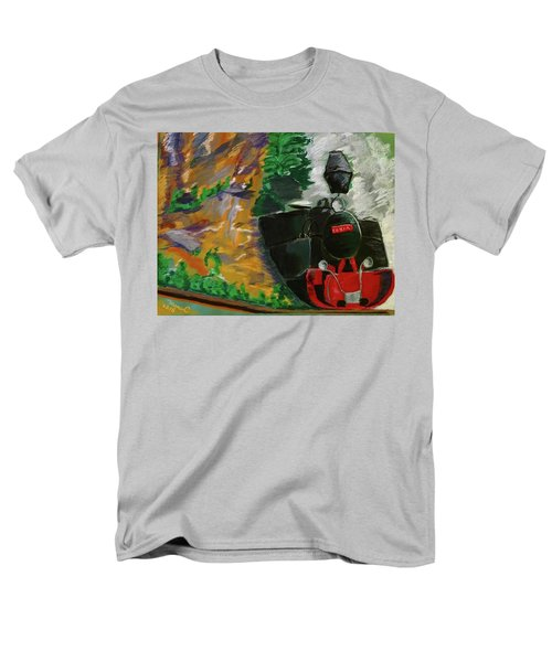 Men's T-Shirt  (Regular Fit) featuring the pastel Steam Train by Manuela Constantin