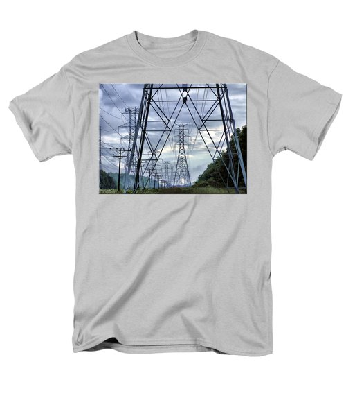 Men's T-Shirt  (Regular Fit) featuring the photograph Steel Soldiers Marching To The Sea by Brian Wallace