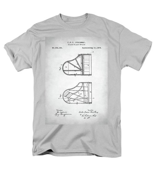Men's T-Shirt  (Regular Fit) featuring the digital art Steinway Grand Piano Patent by Taylan Apukovska