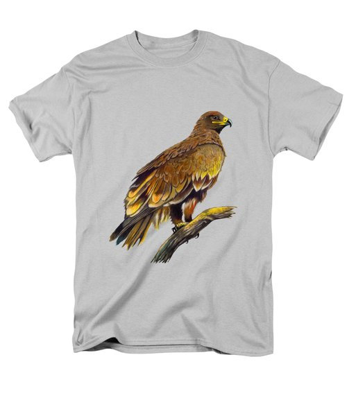 Steppe Eagle Men's T-Shirt  (Regular Fit) by Anthony Mwangi