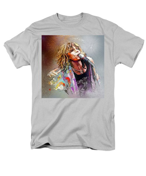 Steven Tyler 02  Aerosmith Men's T-Shirt  (Regular Fit) by Miki De Goodaboom