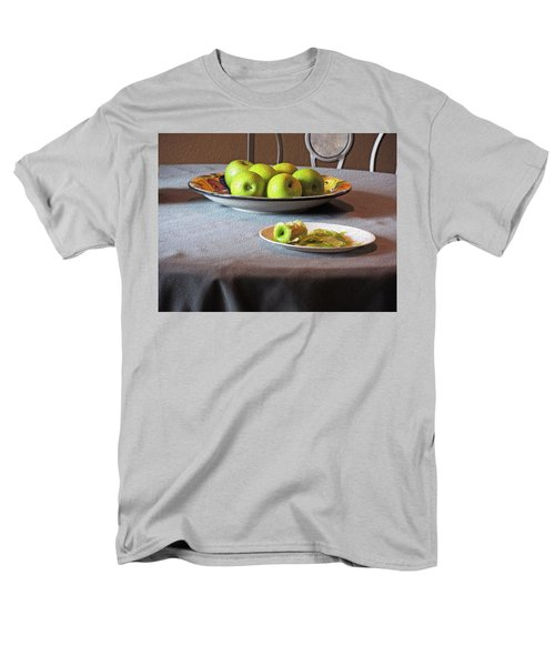 Still Life With Apples And Chair Men's T-Shirt  (Regular Fit) by Lynda Lehmann