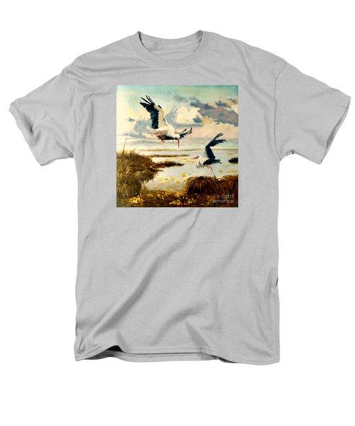 Storks II Men's T-Shirt  (Regular Fit) by Henryk Gorecki