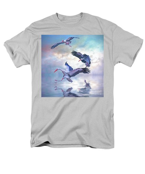 Storks Landing Men's T-Shirt  (Regular Fit) by Brian Tarr