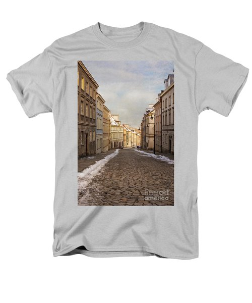 Men's T-Shirt  (Regular Fit) featuring the photograph Street In Warsaw, Poland by Juli Scalzi