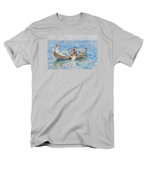 Study For August Blue Men's T-Shirt  (Regular Fit)