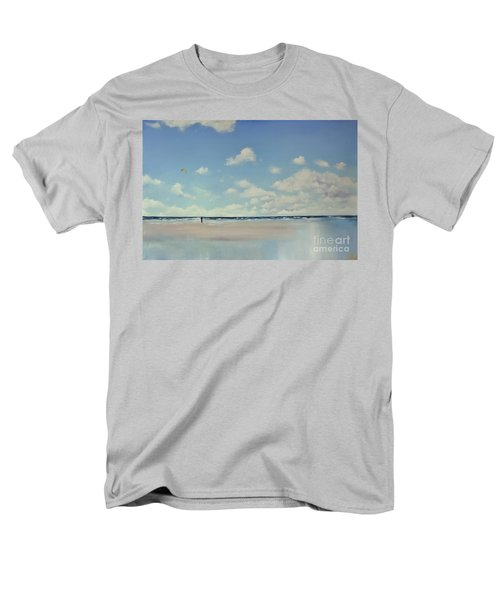 Men's T-Shirt  (Regular Fit) featuring the painting Study Of Blue Nr 1 by Maja Sokolowska