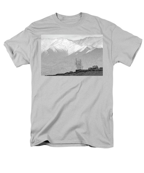 Stupa And Trees Men's T-Shirt  (Regular Fit) by Hitendra SINKAR