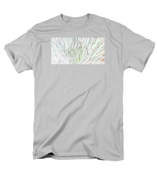 Succulent Leaves In High Key Men's T-Shirt  (Regular Fit) by Nareeta Martin
