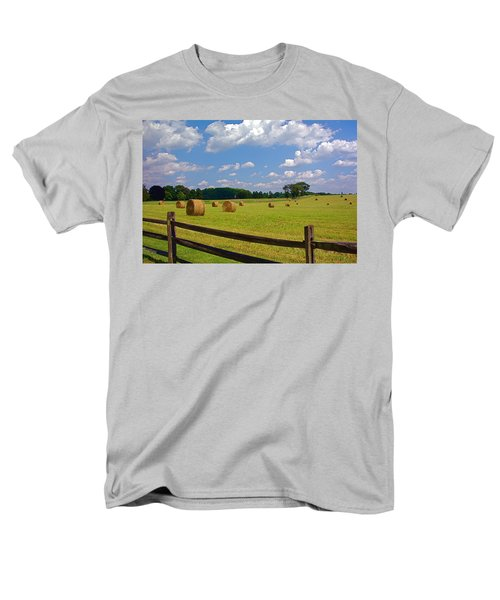 Men's T-Shirt  (Regular Fit) featuring the photograph Sun Shone Hay Made by Byron Varvarigos