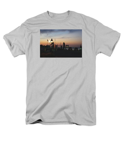 Men's T-Shirt  (Regular Fit) featuring the photograph Sundown At The Harbor by Margie Avellino