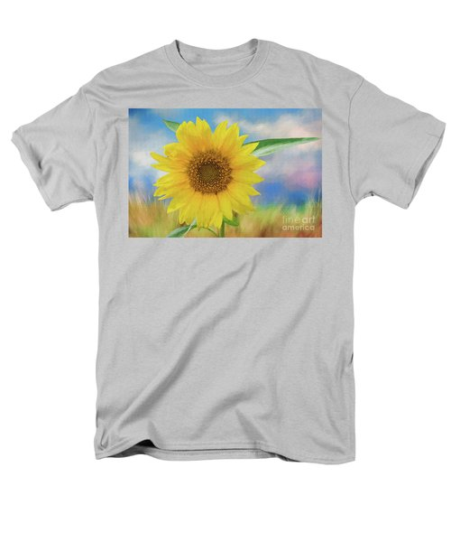 Men's T-Shirt  (Regular Fit) featuring the photograph Sunflower Surprise by Bonnie Barry