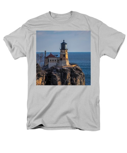 Sunlight On Split Rock Lighthouse Men's T-Shirt  (Regular Fit) by Paul Freidlund