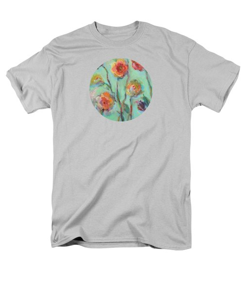 Men's T-Shirt  (Regular Fit) featuring the painting Sunlit Garden by Mary Wolf