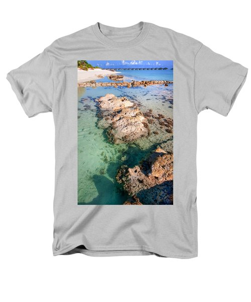 Men's T-Shirt  (Regular Fit) featuring the photograph Sunny Day At Maldivian Resort by Jenny Rainbow