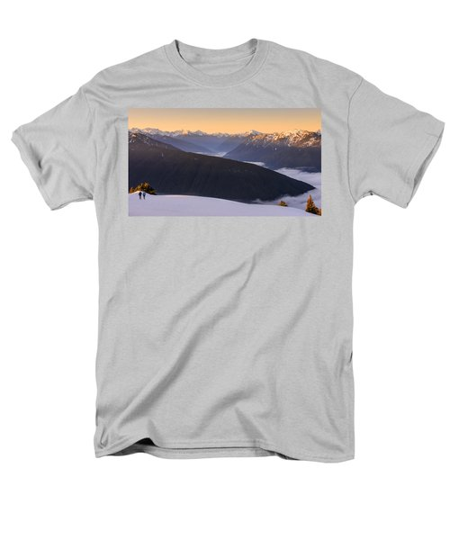 Men's T-Shirt  (Regular Fit) featuring the photograph Sunrise Above The Clouds by Dan Mihai