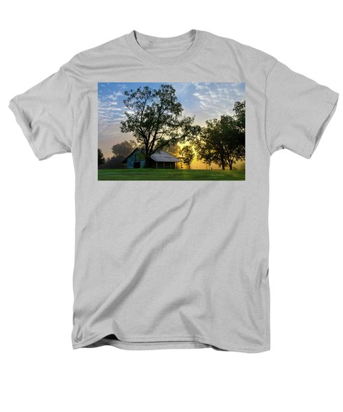 Men's T-Shirt  (Regular Fit) featuring the photograph Sunrise At The Farm by George Randy Bass