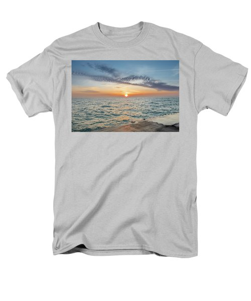Men's T-Shirt  (Regular Fit) featuring the photograph Sunrise Over Lake Michigan by Peter Ciro