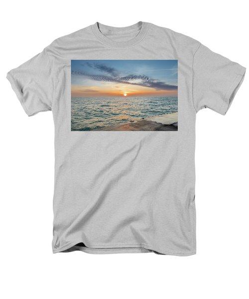 Sunrise Over Lake Michigan Men's T-Shirt  (Regular Fit) by Peter Ciro