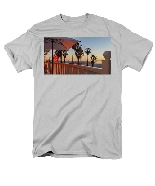 Sunset At Shutters Men's T-Shirt  (Regular Fit) by Mark Barclay
