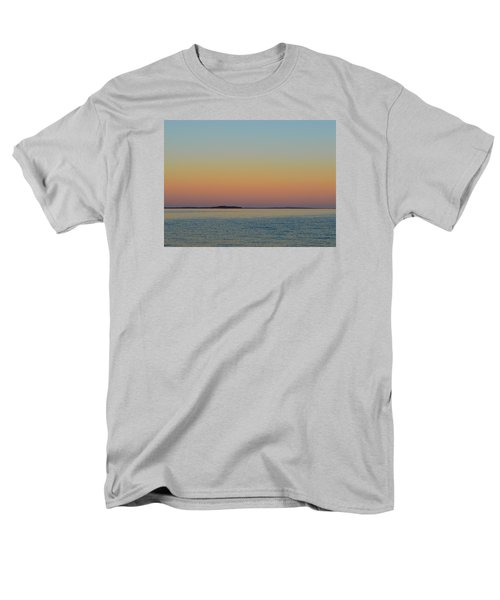 Men's T-Shirt  (Regular Fit) featuring the photograph Sunset Blend At The Outer Harbor 2  by Lyle Crump
